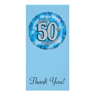 Happy Birthday Blue Balloon Card