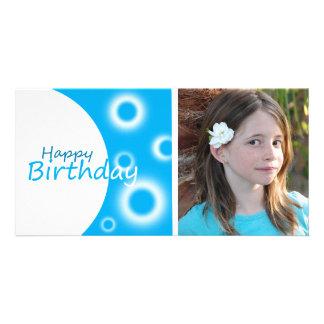 Happy Birthday blue balls Photo Card