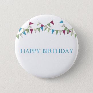 Happy Birthday - blue Button