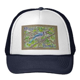 Happy Birthday Blue Jay Mesh Hats