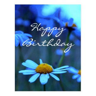 Happy Birthday (Blue Marguerites) Postcard