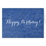 Happy Birthday Blue Plaster Greeting Card