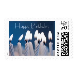 Happy Birthday -Blue Postage