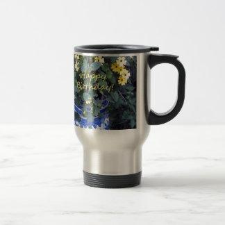 Happy Birthday Blue Yellow vine blue willow Coffee Mug