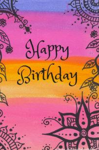 hippie happy birthday Hippy Happy Birthday Crafts & Party Supplies | Zazzle hippie happy birthday