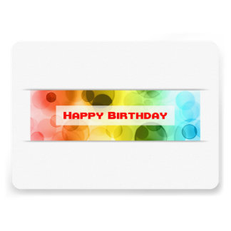 happy birthday (bokeh) card