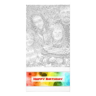 happy birthday (bokeh) photo greeting card