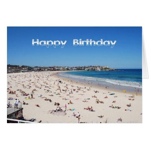 Happy birthday bondi beach sydney australia greeting