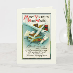 Happy Birthday Book Lover Volumes Of Good Wishes Card