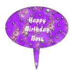Happy Birthday Boss Cake Pick