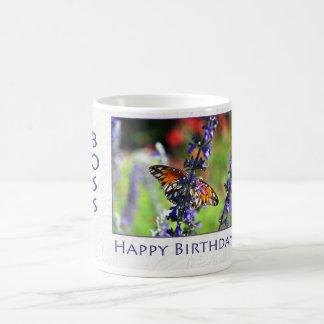 Happy Birthday Boss Floral Butterfly Coffee Mug