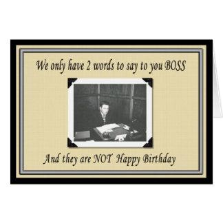 Happy Birthday Boss Cards