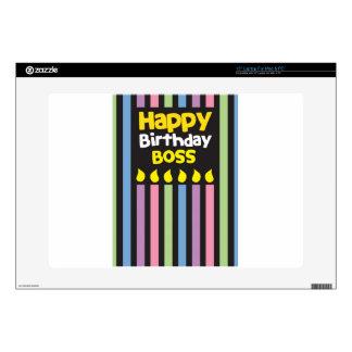 "Happy Birthday BOSS! 15"" Laptop Decal"