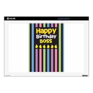 Happy Birthday BOSS! Laptop Skins