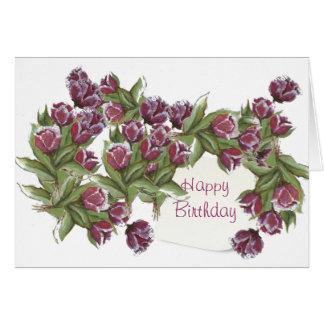 Happy birthday bouquet card