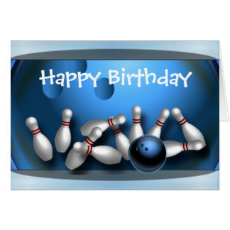 Happy Birthday Bowling Greeting Card