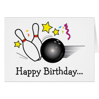Happy Birthday Bowling from the Whole Gang Card