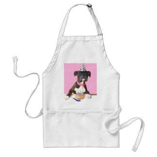Happy Birthday Boxer dog apron