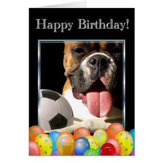 Happy Birthday boxer dog greeting card