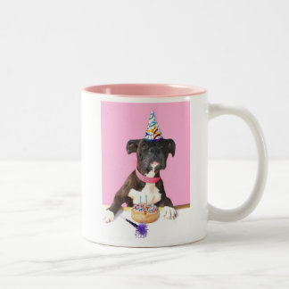 Happy Birthday Boxer dog mug