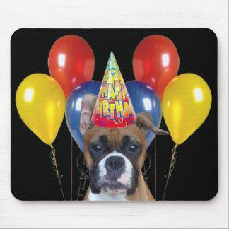 Happy birthday boxer mousepad