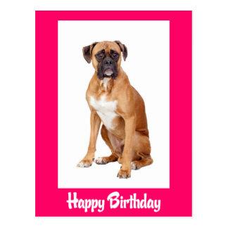 Happy Birthday Boxer Puppy Dog  Postcard