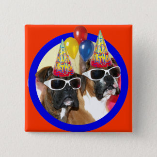 Happy Birthday Boxers button
