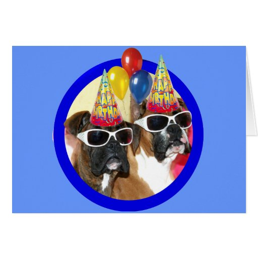 Happy Birthday Boxers greeting card