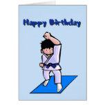 Happy Birthday Boy Martial Arts Greeting Card