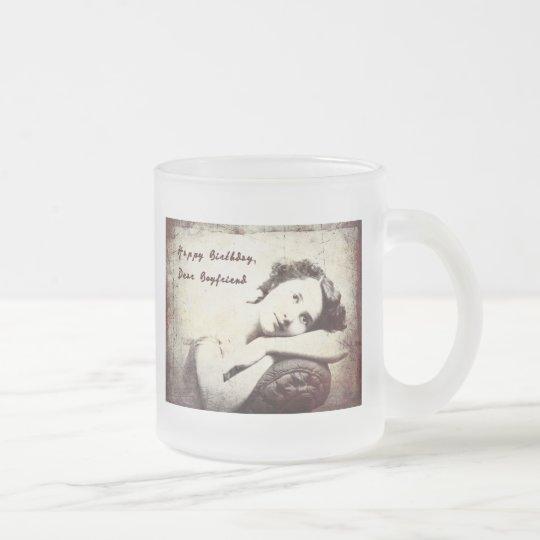 Happy Birthday, Boyfriend Vintage Mug