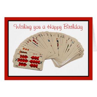 Happy Birthday bridge card playing cards poker
