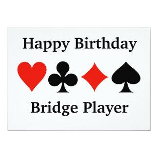 Happy Birthday Bridge Player Four Card Suits