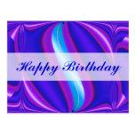 Happy Birthday bright blue Postcard