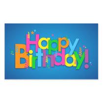 Happy Birthday - Bright Colors Rectangular Sticker