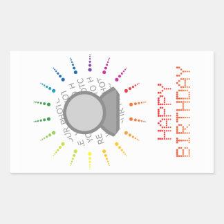 happy birthday (brightBurst) Rectangular Sticker
