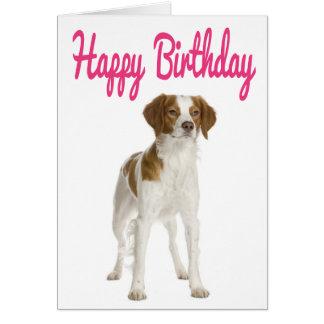 Happy Birthday Brittany Spaniel Puppy Dog Card