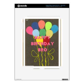 Happy Birthday Bro Decals For iPad 3
