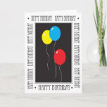 """Happy Birthday Brother Card<br><div class=""""desc"""">This is a colorful birthday card for a brother,  featuring balloons.</div>"""