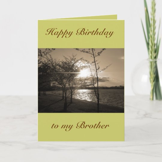 Happy Birthday Brother From Brothersister Card Zazzle