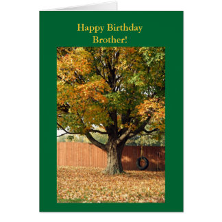 Happy Birthday Brother!  Old tire swing. Card