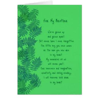 Happy Birthday Brother Original Poetry Card