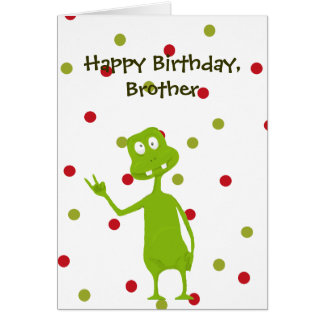 Happy Birthday Brother Space Alien Card