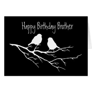 Happy Birthday Brother Special Friend, Two Birds Card