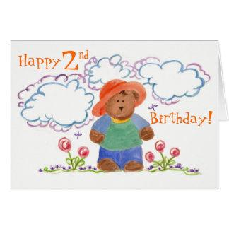 Happy Birthday Brown Bear Childrens Art Card