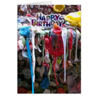 Happy Birthday Bubble gum card