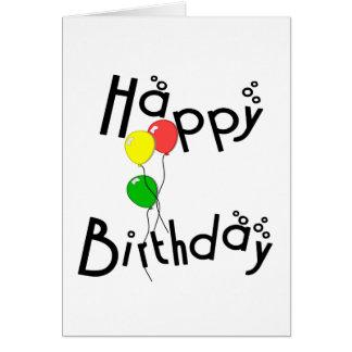 Happy Birthday Bubbles - D7 Birthday Card