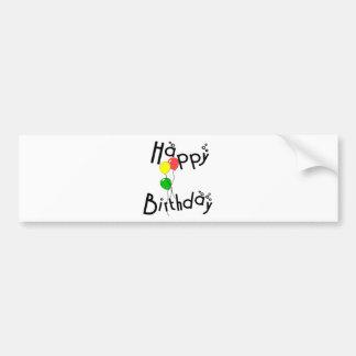 Happy Birthday Bubbles - D7 Bumper Sticker Car Bumper Sticker