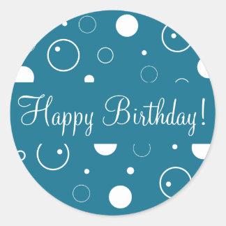 Happy Birthday Bubbles Envelope Sticker Seal