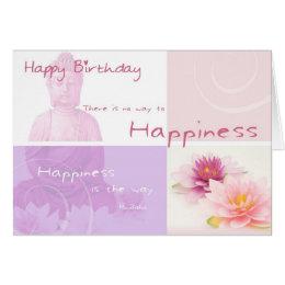 Happy Birthday Buddah Card