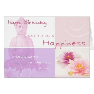 Happy Birthday Buddah Greeting Cards